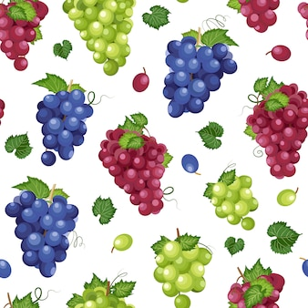 Wzór kiść winogron