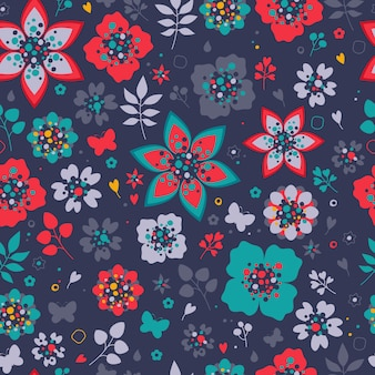 Wzór kolorowe kwiaty. tło kwiatowy.