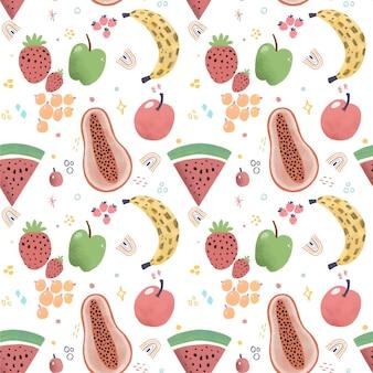 Wzór kolorowe owoce
