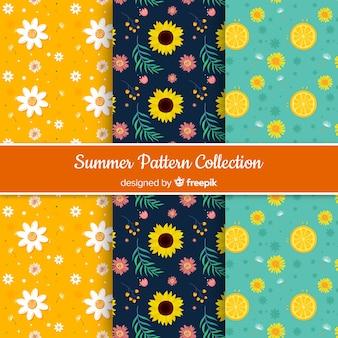 Wzór kolorowe słoneczniki