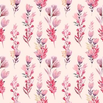 Wzór kompozycje kwiatowe z akwarelą