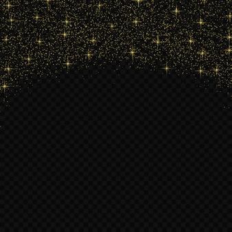 Wzór konfetti złoty brokat.