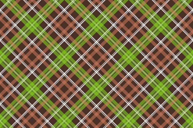 Wzór kratki brązowy zielony kratka