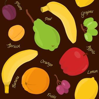 Wzór kreskówka owoców