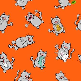 Wzór kreskówka z kotami