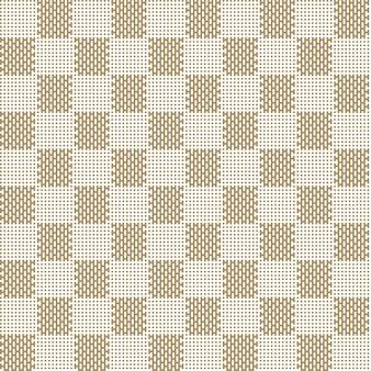 Wzór kwadratowy beżowy bez szwu tkanina tekstura