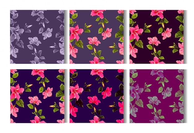 Wzór kwiat hibiskusa