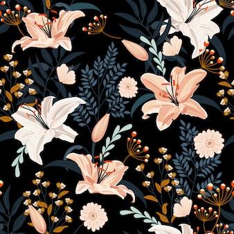 Wzór kwiat lilii