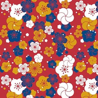 Wzór kwiat śliwki