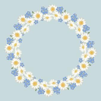Wzór kwiatów rumianku