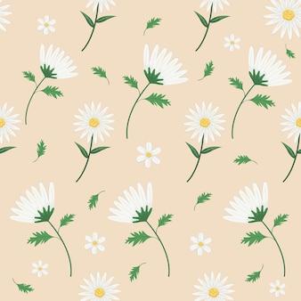 Wzór kwiatów stokrotka