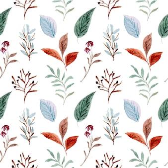 Wzór kwiatowy bezszwowe kwiat liść tapeta abstrakcyjna natura akwarela ilustracja projekt