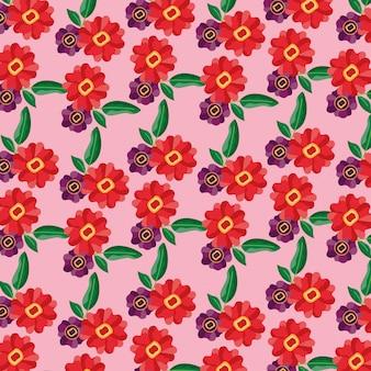 Wzór kwiaty pozostawia dekoracji liści