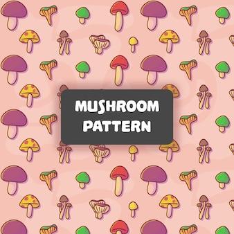 Wzór ładny grzyb