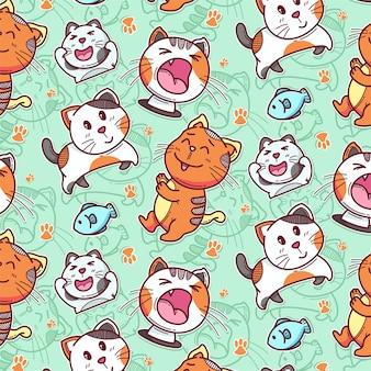 Wzór ładny kot