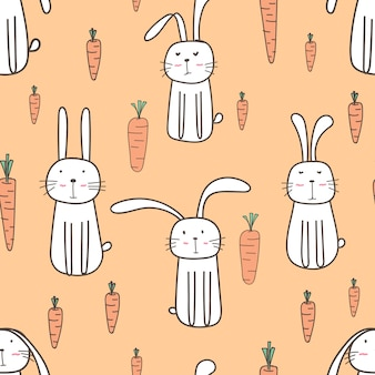 Wzór ładny króliczek
