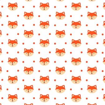 Wzór ładny lis