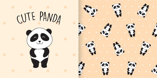 Wzór ładny panda