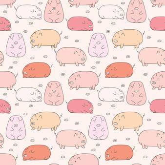 Wzór ładny świnia.