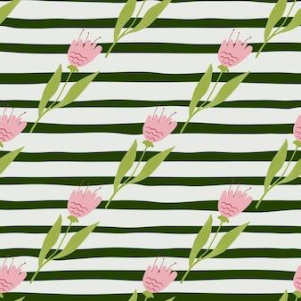 Wzór ładny wildflower. dekoracyjny ornament kwiatowy. elegancki botaniczny design. do tkanin, nadruków na tekstyliach, opakowań, okładek. ilustracja wektorowa nowoczesne.