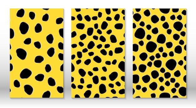 Wzór lamparta skóry zwierząt. nadruk geparda. obejmuje szablon projektu. wzór nadruku w panterkę.