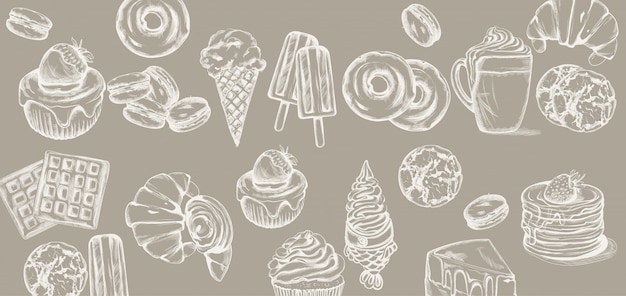 Wzór linii słodyczy