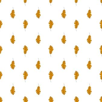 Wzór liści dębu złoty wzór jesiennych liści