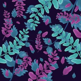 Wzór liści tropikalnych