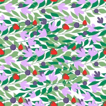 Wzór liści ziołowych