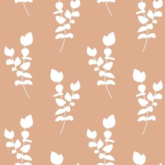Wzór liścia eukaliptusa tropikalna roślina drukuj abstrakcyjny minimalizm