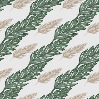 Wzór liścia rocznika. minimalistyczny ornament liści. tło liści.