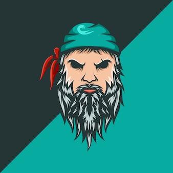Wzór logo piratów