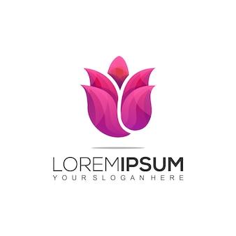 Wzór logo w różowych kolorach