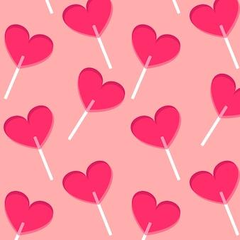 Wzór lolipops serca