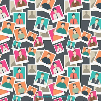 Wzór ludzi ze zdjęciami