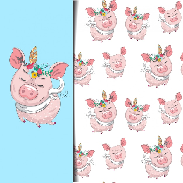 Wzór mała świnka.