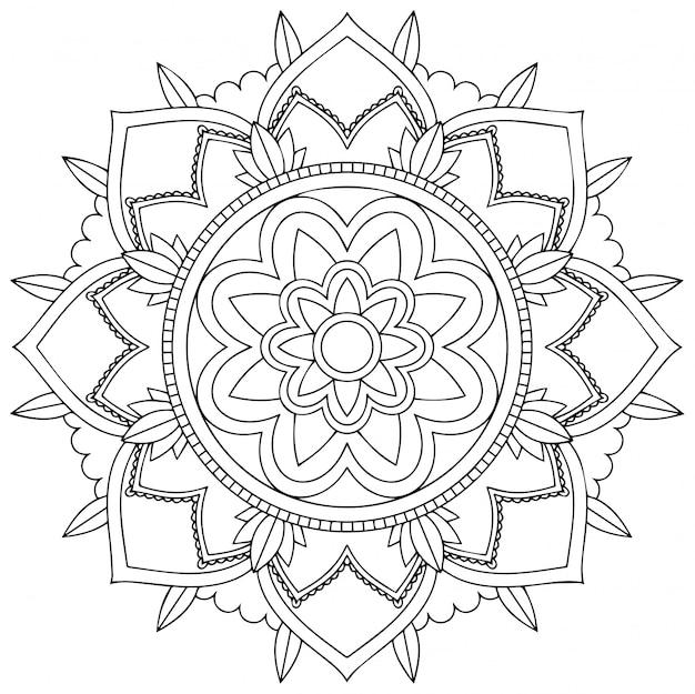 Wzór mandali na białym tle