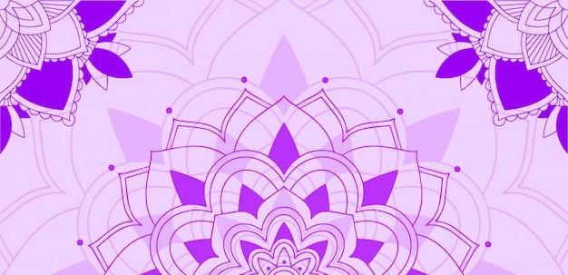 Wzór mandali na fioletowym tle