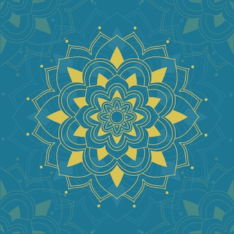 Wzór mandali na niebieskim tle