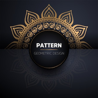 Wzór mandali. vintage wzór elementów dekoracyjnych