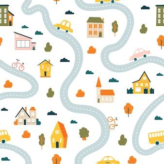 Wzór mapy miasta