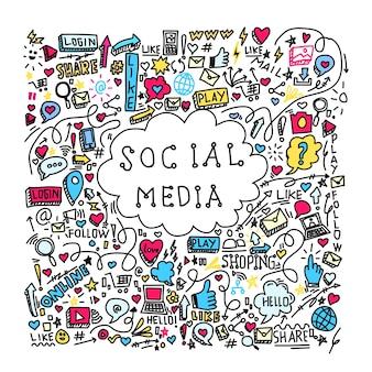 Wzór mediów społecznościowych