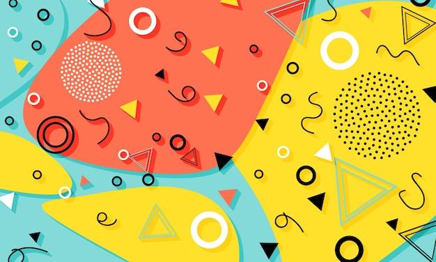 Wzór memphis. streszczenie kolorowy wzór.