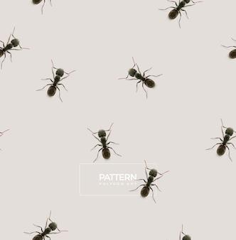 Wzór Mrówki, Ilustracja Low Poly Premium Wektorów