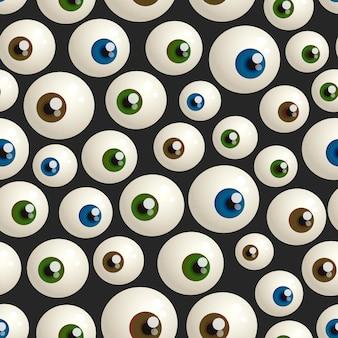 Wzór na halloween z gałkami ocznymi