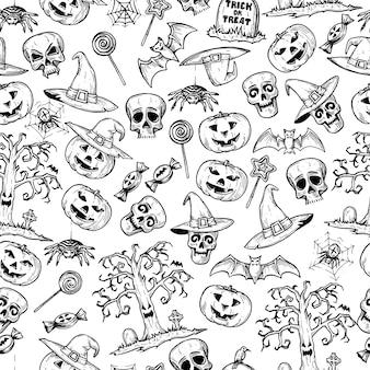 Wzór na święta halloween