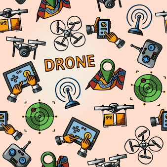 Wzór odręcznego drona