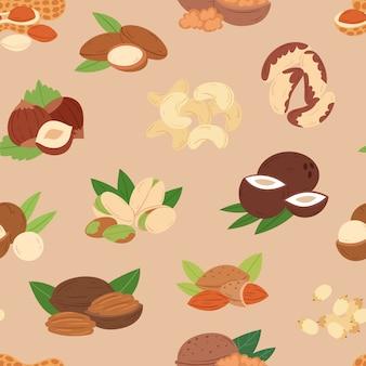 Wzór odżywiania orzechów włoskich i migdałów