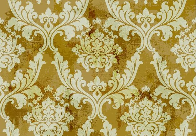 Wzór ornament sztuka bez szwu. barokowy rokokowy tekstura luksusowy design. królewskie dekory tekstylne.
