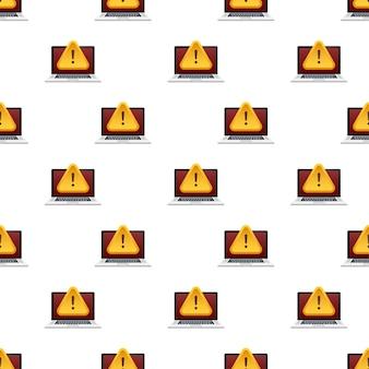 Wzór ostrzeżenia o oszustwie. atak hakerski i bezpieczeństwo sieci. bezpieczeństwo sieci i internetu. ilustracja wektorowa.
